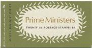 ACSC B132 B.d. 1969-70 $1 Prime Ministers Booklet (ABA/323)